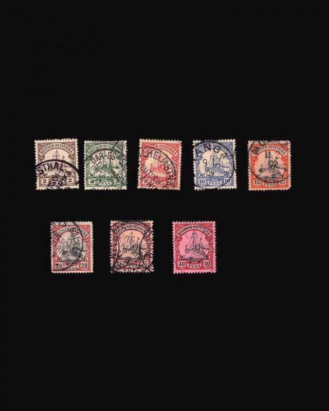 VINTAGE: GERMAN EAST AFRICA 1900 USD LH,,SCOTT #11-18 $71.50 LOT #1896X429