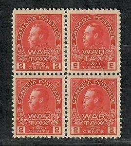 Canada Sc#MR2 M/NH/VF, War Tax Block Of 4, Cv. $260