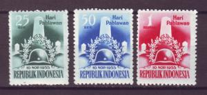 J21026 Jlstamps 1955 indonesia set mh #418-20 monument
