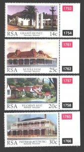 South Africa. 1986. 689-92. Architecture. MNH.