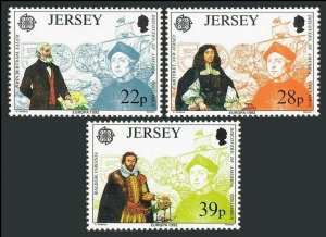 Jersey 593-595,MNH.Michel 574-576. EUROPE CEPT-1992. Columbus-500.