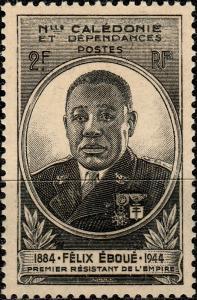 NOUVELLE CALÉDONIE & DÉPENDANCES - 1945 - Yv.257 2fr noir Félix Éboué NEUF**