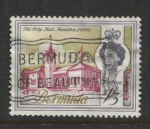 Bermuda - Scott 184 - QEII - Definitive -1962 - VFU - Single 1/3d Stamp