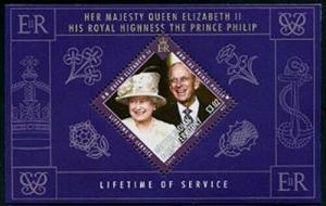 HERRICKSTAMP BRITISH INDIAN OCEAN Sc.# 425 Queen Elizabeth II S/S