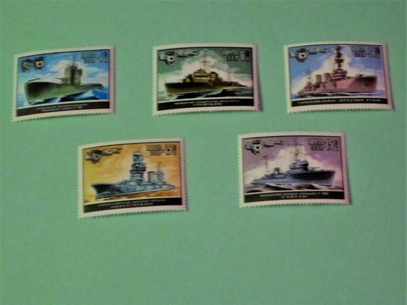 Russia - 5085-89, MNH Set. WWII Warships. SCV - $2.00