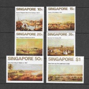 SINGAPORE #144-49  VIEWS OF OLD SINGAPORE  MNH