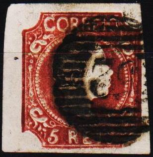 Portugal. 1855 5r S.G.18a Fine Used