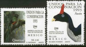MEXICO 1838-1839, Conservation of the Quetzal and Pavon. MINT, NH. VF.