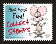 Fun Intl. Local Post Stamp Promotes Stamp Collecting, MNH