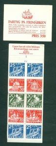 Sweden. Booklet. 1966. Mnh. Cancer Assoc. Ships On Stamps. Cyl # 1. Engr: Ewert.