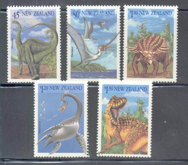 New Zealand Sc 1180-4 1993 Dinosaurs stamp set mint NH