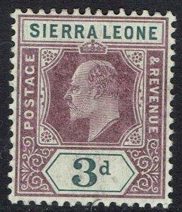 SIERRA LEONE 1904 KEVII 3D WMK MULTI CROWN CA INVERTED