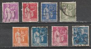 #245,265,267,271-2,277,282-3 France Used