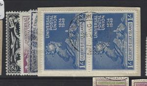 GILBERT AND ELLICE ISLANDS (P1804B)  UPU SET PAIRS SG 59-62 ON PIECE  VFU