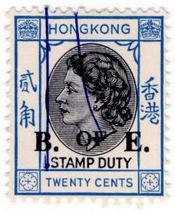 (I.B) Hong Kong Revenue : Bill of Exchange 20c