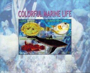 Sierra Leone MNH S/S Colorful Marine Life