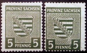 Germany Provinz Sachsen Mi 75Y a+b **