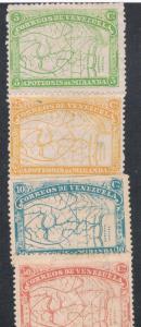 Venezuela 137-40 MHR (V0036)