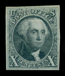 US 1875  WASHINGTON  10c black  Scott # 4  mint  MH VF/XF