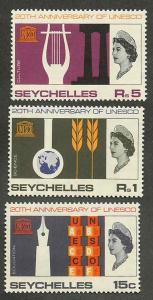 Seychelles 230-232 Mint VF NH