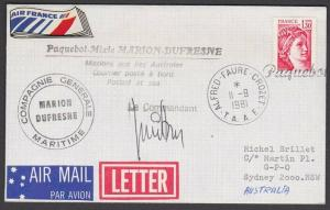 FRENCH ANTARCTIC TERR. 1981 PAQUEBOT ship cover............................55427