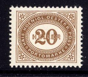 Austria 1899  Scott #J31 MNH, nicely centered