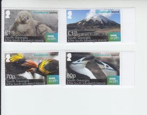2016 South Georgia Zavodovski Island (4) (Scott 560-63) MNH