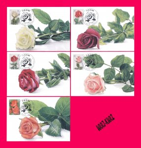 TRANSNISTRIA 2017 Flora Plants Flowers Roses 5 Maxicard Maxicards Cards Golden
