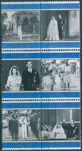 St Helena 1997 SG746-751 Golden Wedding QEII pairs set MNH