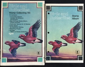 Birds/Butterflies soft cover Stamp Album by Scott/USPS 10 pages 1974 NO stamps