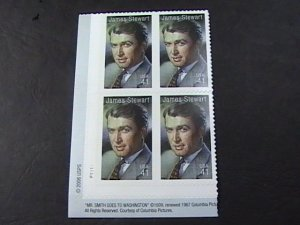 US # 4197-MNH--LL--PLATE # BLOCK OF 4--LEGENDS OF HOLLYWOOD/JIMMY STEWART-2007