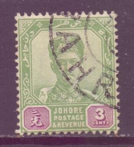 Malaya Johore Scott 39 - SG41a, 1896 Sultan 3c used