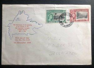 1956 Jesselton North Borneo First Day Cover FDC Old Charter Company Anniversary