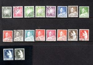 Greenland 48-65,   VF, Used, Complete Set,   CV $25.00  ....2510022
