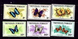 Trinidad and Tobago 210-15 MNH 1972 Butterflies