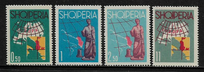 Albania #630-3 MNH Set - Tourist Propaganda - Map of Europe