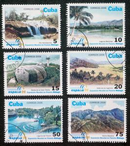 CUBA Sc# 4619-4624  SPAIN WORLD PHILATELIC EXPO Complete set of 6 2006 cancelled