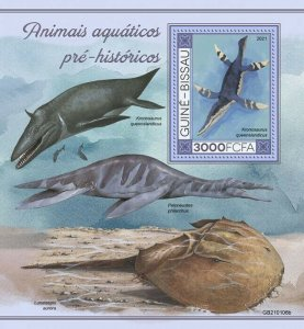 Stamps of GUINEA-BISSAU 2021-  PREHISTORIC WATER ANIMALS 4