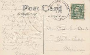 United States Minnesota Zumbro Falls 1909 4a-bar  PC.
