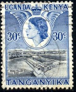 Owen Falls Dam, Kenya, Uganda, Tanzania stamp SC#108 Used