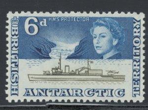 British Antarctic Territory 1963 HMS Protector 6p Scott # 8 MH