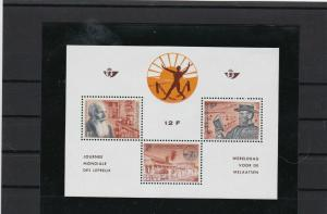 belgium liberation mint never hinged  stamps sheet ref r9519