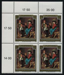 Austria 1310 TL Block MNH Art, Fairy Tale Teller Franz von Defregger