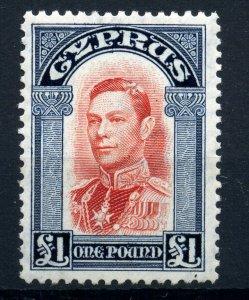 Cyprus 1938 £1 SG 163 fine fresh MLH