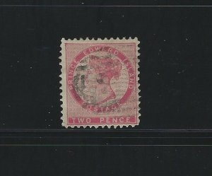 PRINCE EDWARD ISLAND - #5 - 2d QUEEN VICTORIA USED STAMP (1862)
