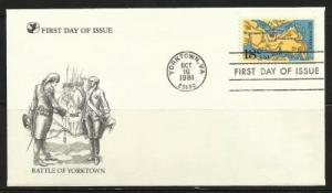 USA 1981 Bicent. 2 FDCs Battle of Yorktown and Virginia Cape