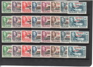 Falkland Islands 2L1-5L8 MNH ..