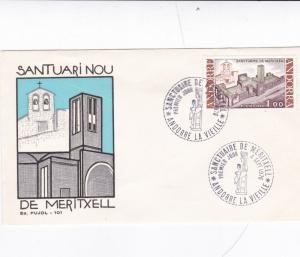Andorra 1976 Chapel of Our Lady Meritxell Unadressed FDC