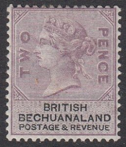 Bechuanaland 12, SG11 MH CV $125.00