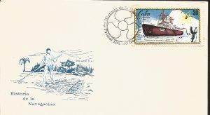 V) 1972 CARIBBEAN, NAVIGATION HISTORY, HISTORIC SHIPS, ATOMIC ICEBREAKER LENIN,